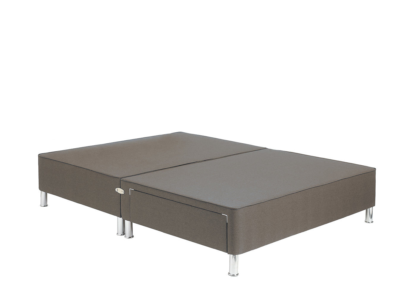 Therapur divan base with legs mink 6 0 super king grey for Grey double divan base