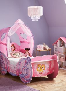 Disney Princess Carriage Toddler Bed 2'6 Small Single Pink
