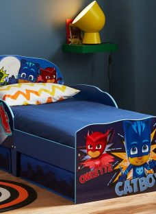 PJ Masks Toddler Bed With Storage 2'6 Small Single Blue