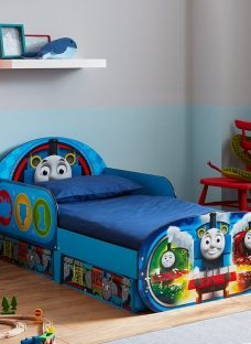 Thomas The Tank Engine Toddler Bed With Storage 2'6 Small Single Blue