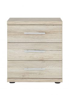 Samara 3 Drawer Bedside Chest - Oak Chest Oak Effect