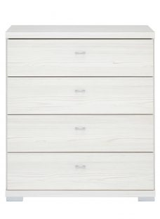 Fiji 4 Drawer Chest - Polar Chest Off White