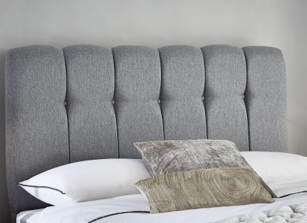 Queensland Luxury Headboard - Ash 4'6 Double Oatmeal