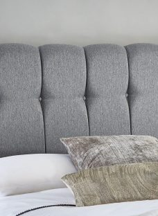 Queensland Luxury Headboard - Ash 4'6 Double Dark Grey