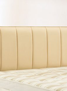 Columbia Headboard - Cream 2'6 Small Single Faux Leather
