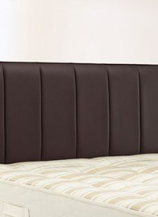 Columbia Headboard - Brown 4'6 Double Dark Brown Faux Leather