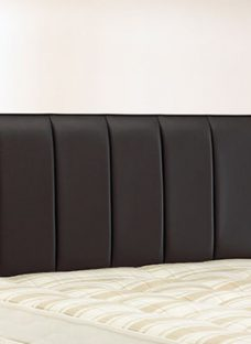 Columbia Headboard - Black 4'0 Small Double Faux Leather