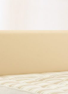 Newark Headboard - Cream 4'6 Double Faux Leather