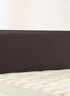 Newark Headboard - Brown 3'0 Single Dark Brown Faux Leather