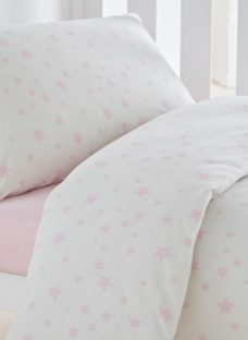 Silentnight Toddler Jersey Star Duvet Set Toddler Pink Duvet Sets