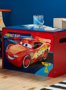 Disney Cars Toy Box Painted Wood