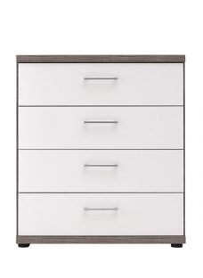 Melbourne 4 Drawer Chest - Oak and White Chest Solid Oak