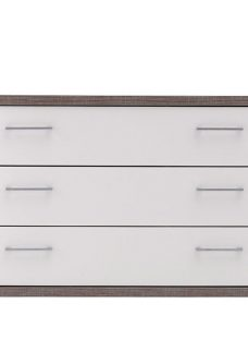 Melbourne 3 Drawer Wide Chest - Oak and White Chest Solid Oak
