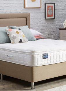 TheraPur ActiGel Plus 24 Divan Bed with Legs - Medium Firm - Oatmeal 6'0 Super King Other