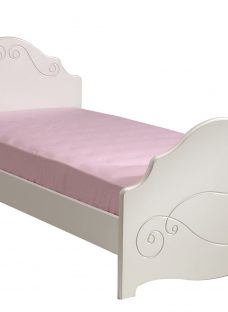 Alice Single Bed Frame - White 3'0 Single Other