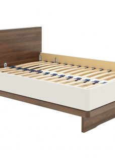 Cali Bed Frame - Champagne and Dark Wood 4'6 Double Dark Brown