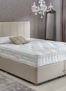Insignia Ashdown Pocket Sprung Divan Bed - Medium Firm - Beige 6'0 Super King