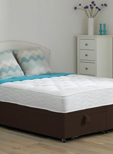 Beaumont Pocket Sprung Ottoman Bed - Firm - Mocha 4'6 Double Dark Brown