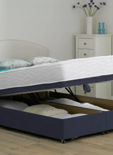 Beaumont Pocket Sprung Ottoman Bed - Firm - Blue 5'0 King