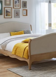 Bond Wooden High Footend Bed Frame 4'6 Double Natural Light Wood