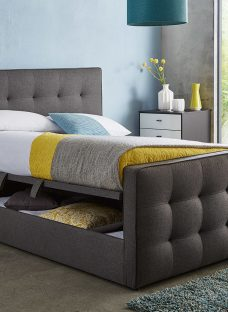 Cavill Grey Fabric Ottoman Bed Frame 5'0 King