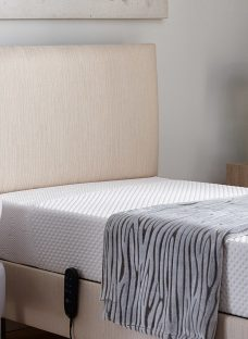 Clancy Adjustable Headboard - Oatmeal 4'0 Small Double