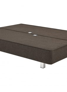 Luxury Divan Base with Legs - Charcoal 6'0 Super King