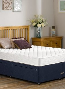 Dalton Traditional Spring Divan Bed - Medium - Blue 5'0 King