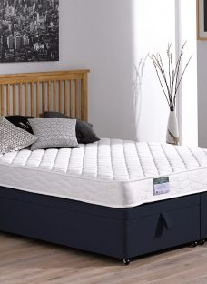 Dalton Traditional Spring Ottoman Divan Bed - Medium - Blue 5'0 King
