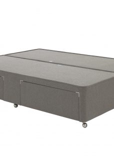 Luxury Divan Base - Dark Grey 6'0 Super King Slate Grey