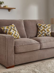 Farris Sofa Bed 2 Seater Silver Fabric