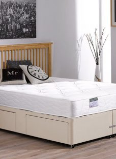 Beaumont Pocket Sprung Divan Bed - Firm - Beige 4'0 Small Double Off White