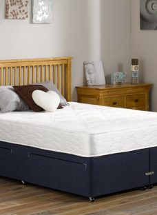 Fenton Traditional Spring Divan Bed - Firm - Blue 5'0 King