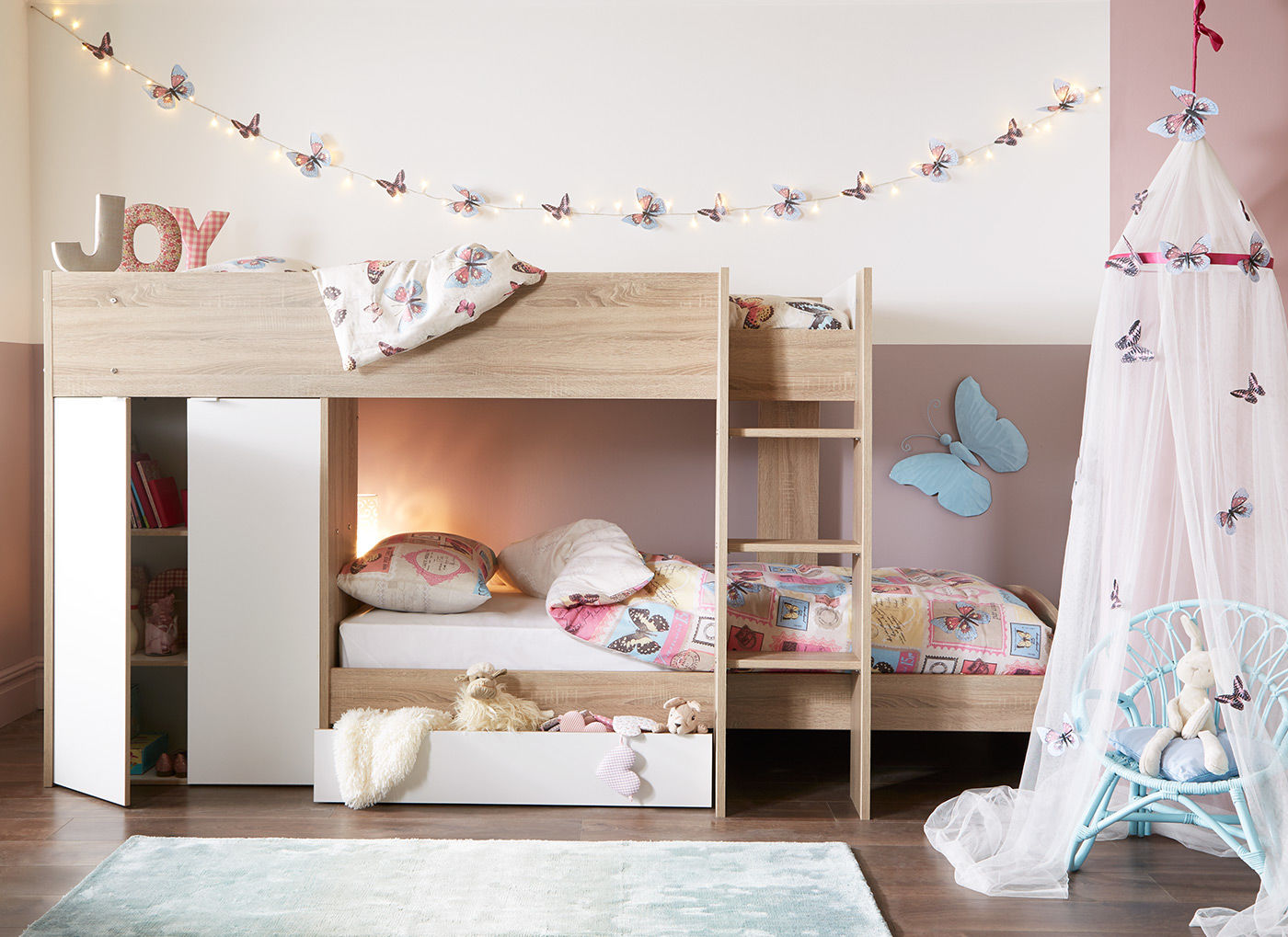 Picture of: Finley Bunk Bed Oak And White 3 0 Euro Single Bed Sava