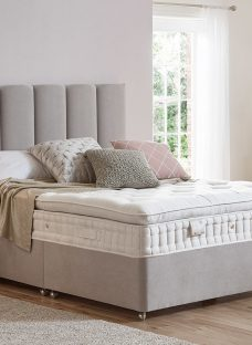 Flaxby Natures Finest 4500 Pocket Sprung Luxury Divan Bed - Ash 4'6 Double
