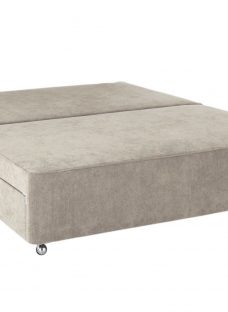 Flaxby Pocket Sprung Divan Base - Stone 5'0 King