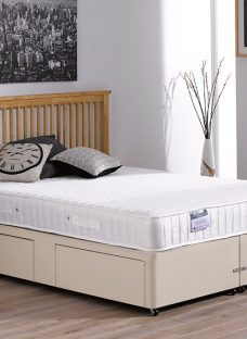 Franklin Traditional Spring Divan Bed - Medium - Beige 4'6 Double