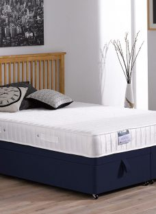 Franklin Traditional Spring Ottoman Divan Bed - Medium - Blue 5'0 King