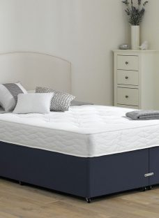 Halliday Traditional Spring Divan Bed - Firm - Blue 4'6 Double