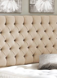 Harrogate Headboard - Natural 4'0 Small Double Beige