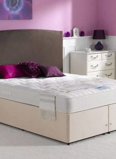 Henley Pocket Spring Mattress and Classic Divan Bed - Beige - Firm 4'6 Double