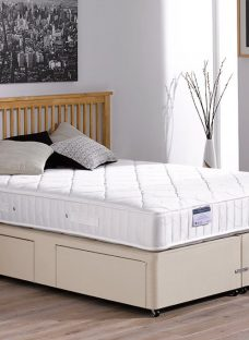 Hurley Pocket Sprung Divan Bed - Medium - Beige 4'0 Small Double