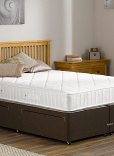 Hurley Pocket Sprung Divan Bed - Medium - Mocha 4'6 Double Dark Brown