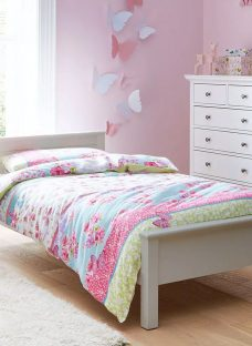 Hutchin Grey Single Wooden Bed Frame 3'0 Single Light Wood
