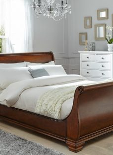 Orleans Walnut Wooden Bed Frame 4'6 Double Brown Dark Wood