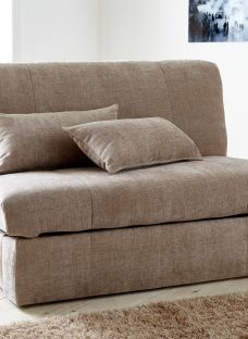 Kelso Sofa Bed Small Double Coffee Fabric