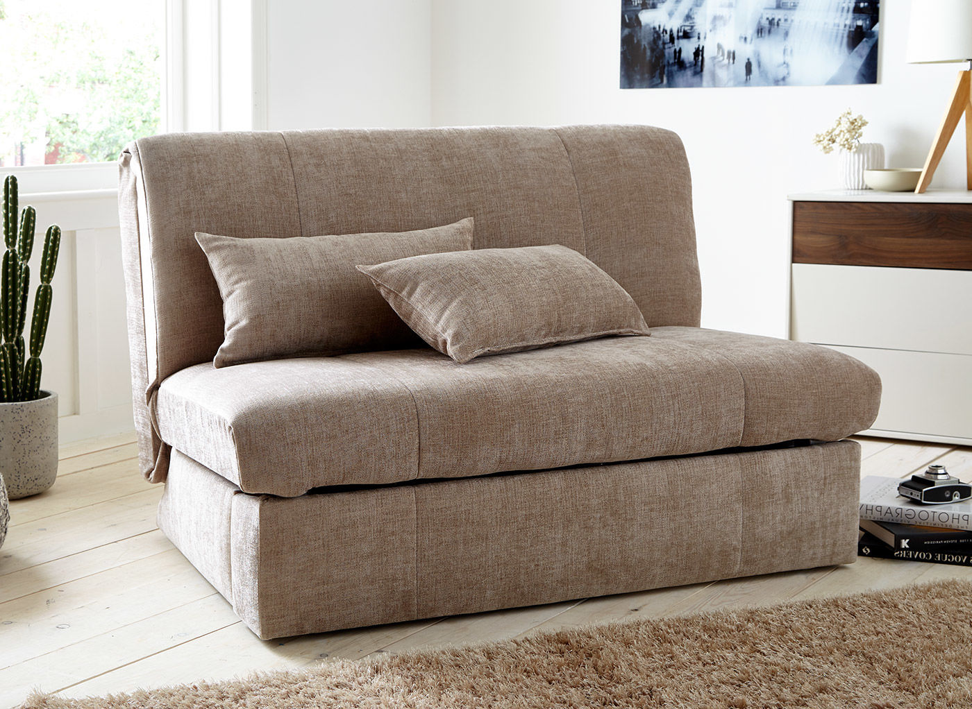 Picture of: Kelso Sofa Bed Small Double Nutmeg Fabric Bed Sava