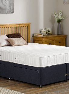 Kendall Pocket Sprung Divan Bed - Medium - Blue 6'0 Super King