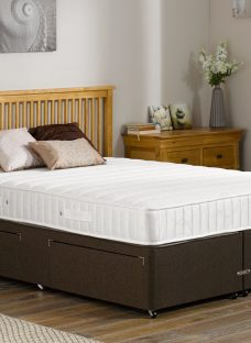 Kendall Pocket Sprung Divan Bed - Medium - Mocha 5'0 King Dark Brown