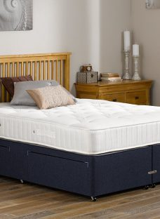 Lambert Pocket Sprung Divan Bed - Orthopaedic - Blue 4'0 Small Double